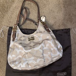 3 sectioned coach purse